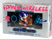 "SEGA Genesis Gopher Wireless LCD 2.8"", ИК-порт  +20 игр (синяя) + карта SD 2Гб"